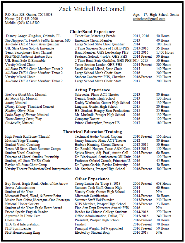 Latest Resume Format Resume  Zack Mcconnell Great Resume Formats Word with Video Editor Resume Sample Pdf Resume In Case The Image Above Does Not Appear Or Is Too Blurry Click On  The Link Below To View The Pdf Resume Accounting Word